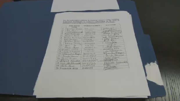 Fourth-year Cape Breton University student Brandon MacDonald created this petition to cut ties with the Canadian Federation of Students.
