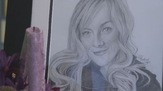 Hannah Knockwood-Singer, 18, drew this portrait of murdered police officer Catherine Campbell.