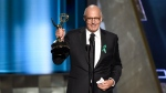 Jeffrey Tambor accepts the award for outstanding lead actor in a comedy series for 'Transparent' at the 67th Primetime Emmy Awards at the Microsoft Theater in Los Angeles on Sept. 20, 2015. (Chris Pizzello / Invision)