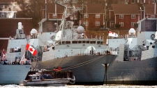 Canadian navy frigates in Halifax in 2006