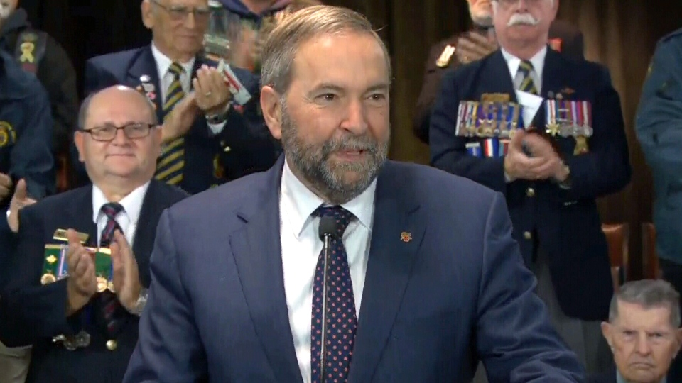 Mulcair speaks in Halifax