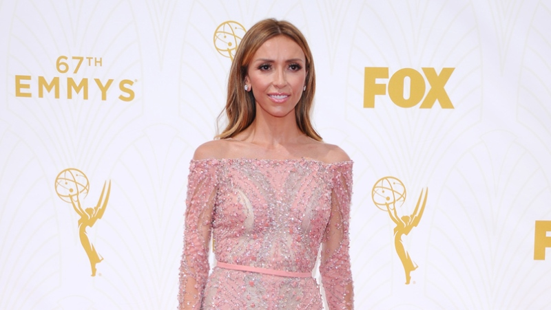 Giuliana Rancic arrives at the 67th Primetime Emmy Awards at the Microsoft Theater in Los Angeles on Sunday, Sept. 20, 2015. (Vince Bucci / Invision for the Television Academy)