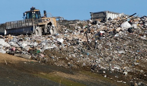 Trash is compacted at the landfill in Moretown, Vt., in this Dec. 6, 2012 file photo. (AP / Toby Talbot)