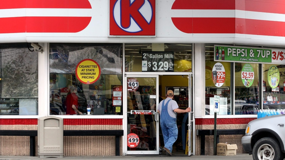 A Circle K sign is shown in Clarksville, Ind. (AP / The News and Tribune / C.E. Branham)