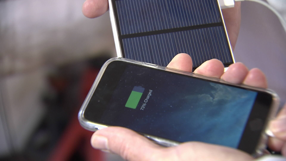 Phone being charged by a new invention that doesn't require electricity (CTV)
