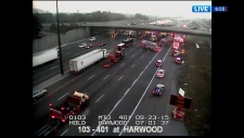 Morning Update: Major on EB 401 in Ajax