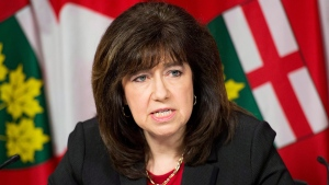 Auditor General Bonnie Lysyk delivers her 2014 report during a press conference in Toronto on Tuesday, Dec. 9, 2014. (Nathan Denette / THE CANADIAN PRESS)