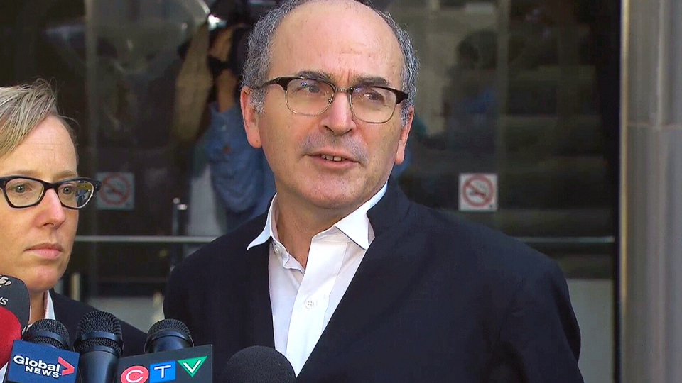 John Norris, the defence lawyer of Raed Jaser, speaks after Jaser was sentenced to life in prison, in Toronto, Wednesday, Sept. 23, 2015.