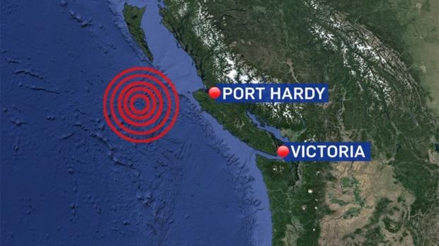 Magnitude 5 7 Earthquake Shivers Off Northwestern Vancouver Island Ctv Vancouver News