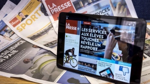 Digital and print editions of La Presse
