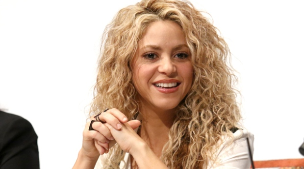 Shakira attends The Happy Factor Forum hosted by Fisher-Price at the Crosby Street Hotel on Thursday, Sept. 24, 2015, in New York. (Greg Allen/Invision/AP)