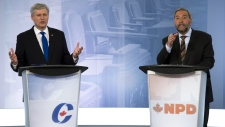 Harper and Mulcair argue on niqab controversy