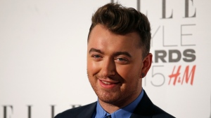 British singer Sam Smith is pictured in this undated photo. (AFP PHOTO / JUSTIN TALLIS)