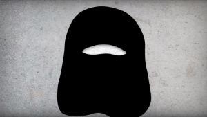 An image from a Bloc Quebecois ad attacking the NDP on oil and niqabs