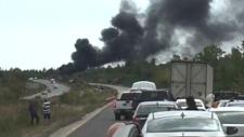 Bus fire near Georgian Bay
