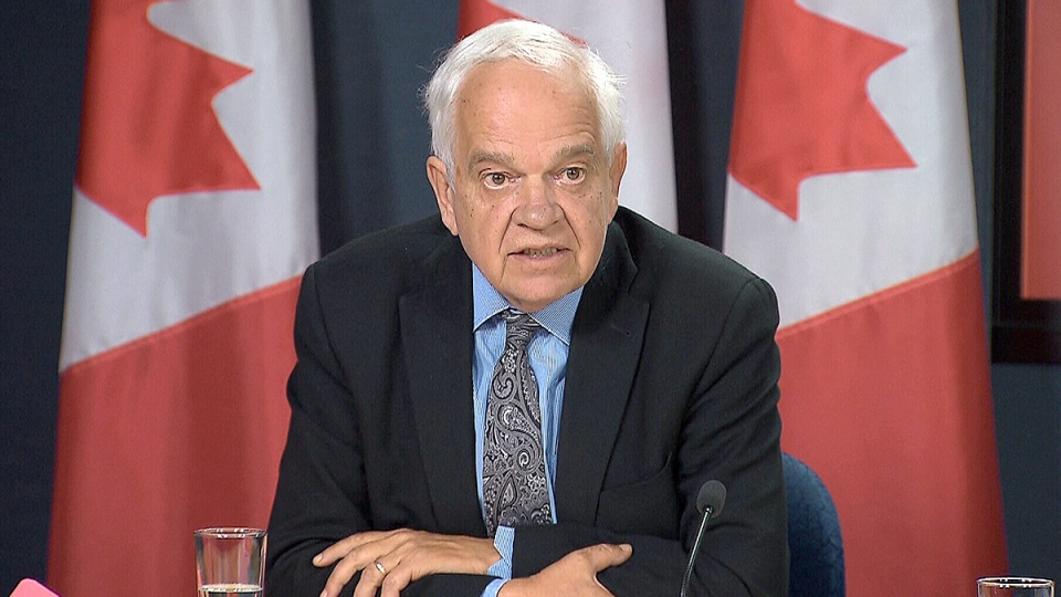 Markham-Thornhill Liberal candidate John McCallum speaks about the party's fiscal plan at a press conference in Ottawa Sept. 26, 2015.