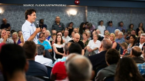 Justin Trudeau at town hall