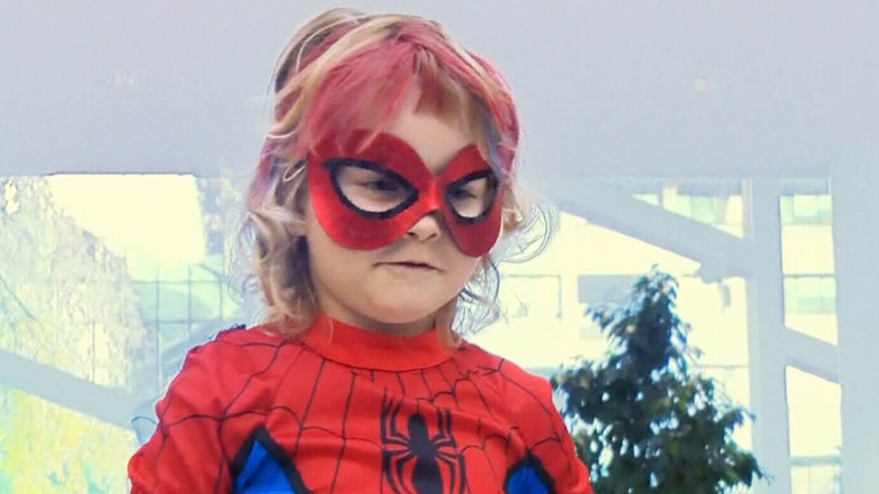 A film about real life superhero SpiderMable, a little girl battling cancer, will premiere in November.