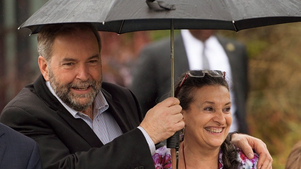 NDP Leader Tom Mulcair and his wife
