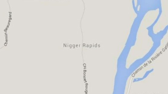 Nigger Rapids is about 300 kilometres northwest of Montreal (image: GoogleMaps)