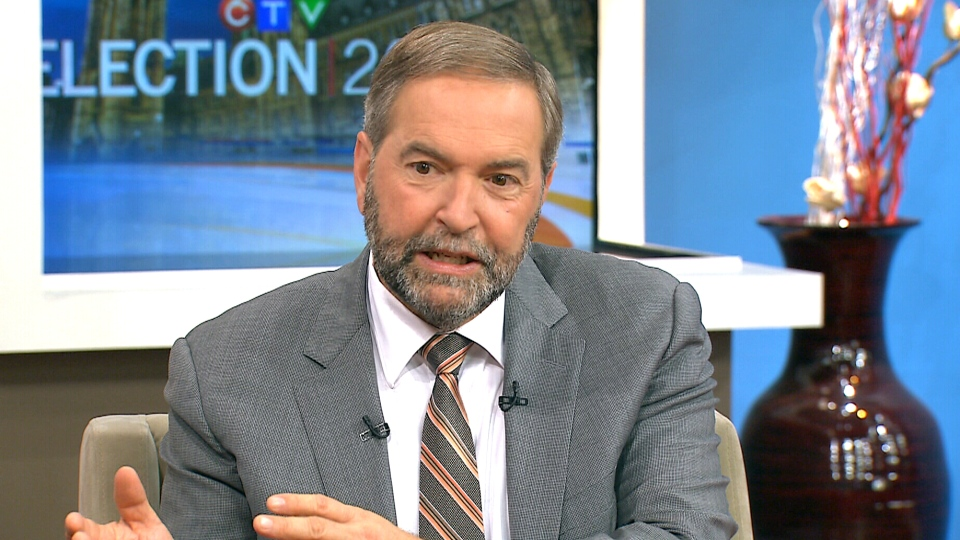 NDP Leader Thomas Mulcair speaks to CTV's Canada AM, Sept. 29, 2015.