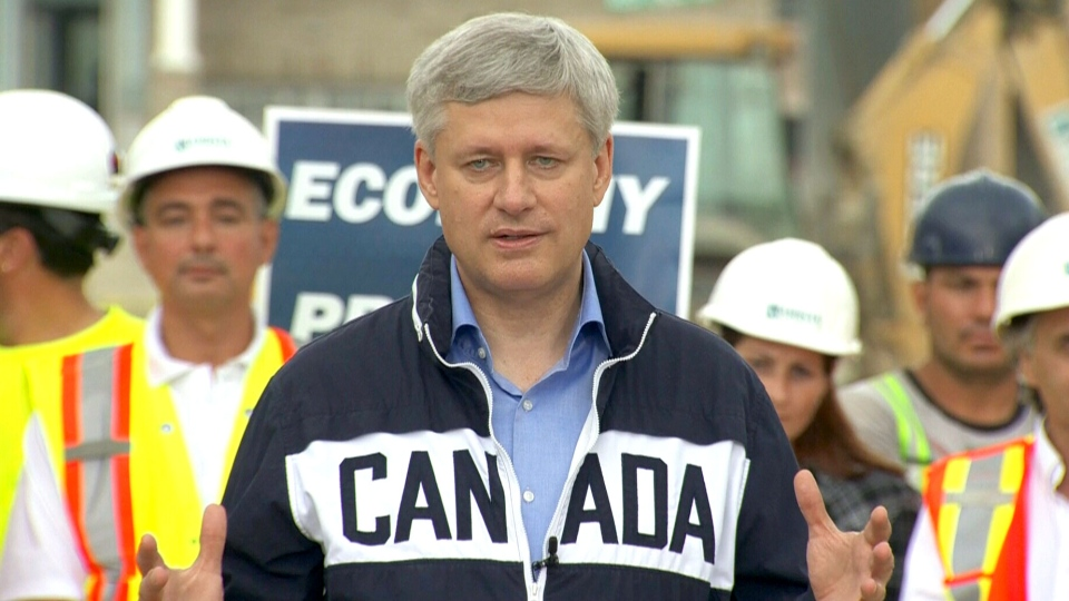 Conservative Leader Stephen Harper makes an announcement in Vaughan, Ont., Tuesday, Sept. 29, 2015.