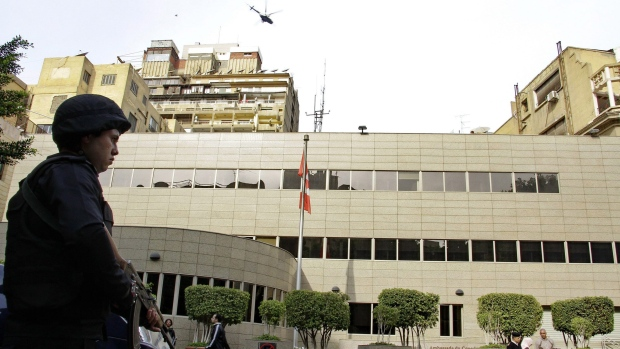 The Canadian Embassy in Cairo, Egypt. The need for increased embassy security was highlighted in briefing material for the Trudeau government when it first assumed power in 2015.