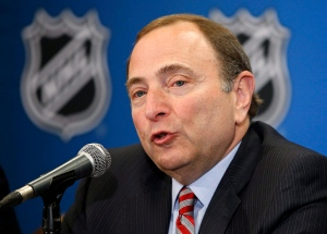 NHL commissioner Gary Bettman speaks at a news conference before the NHL Awards show on June 24, 2015, in Las Vegas.(John Locher / AP Photo)