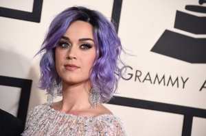 Katy Perry arrives at the 57th annual Grammy Awards at the Staples Center in Los Angeles on Feb. 8, 2015. Researchers say popular musicians like Perry could be contributing to obesity epidemic through ad campaigns. (Jordan Strauss / Invision)