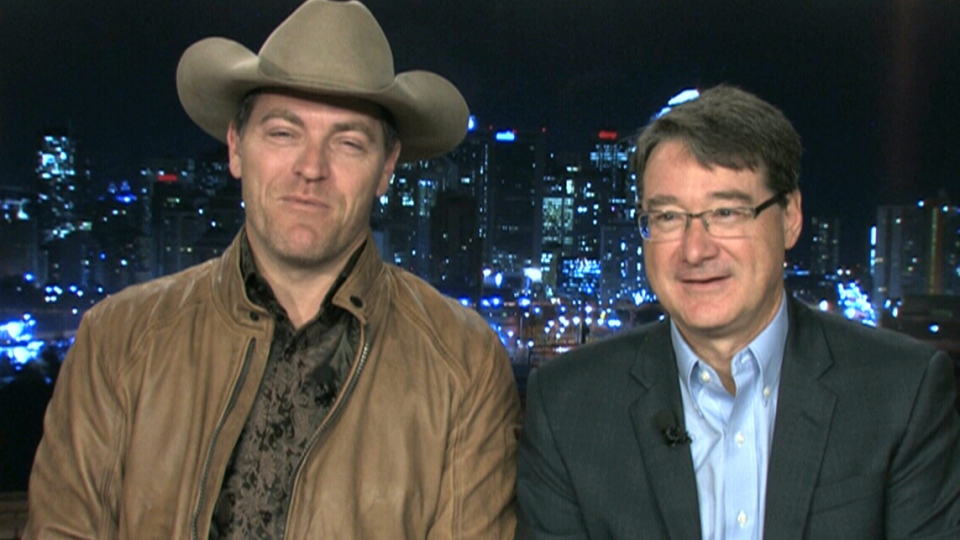 Country singer George Canyon and Dave Prowten, president of JDRF Canada
