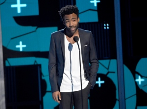Donald Glover speaks at the BET Awards at the Microsoft Theater on Sunday, June 28, 2015, in Los Angeles. (Photo by Chris Pizzello/Invision/AP)