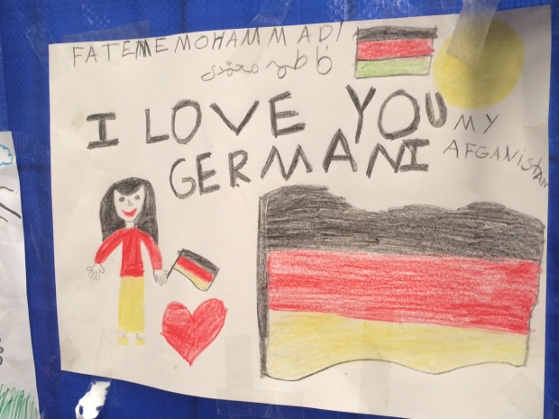 drawing by a child migrant in Germany