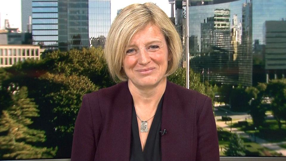 Alberta Premier Rachel Notley appears on CTV's Power Play from studios in Toronto, Thursday, Oct 1, 2015.