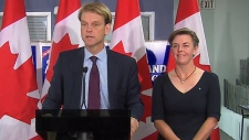 Chris Alexander, Kellie Leitch in Ajax, Ont.