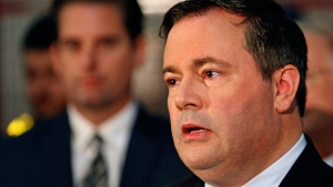 Conservative candidate Jason Kenney delivers remarks in Dartmouth, N.S., on Friday, Oct. 2, 2015. (Darren Pittman / THE CANADIAN PRESS)