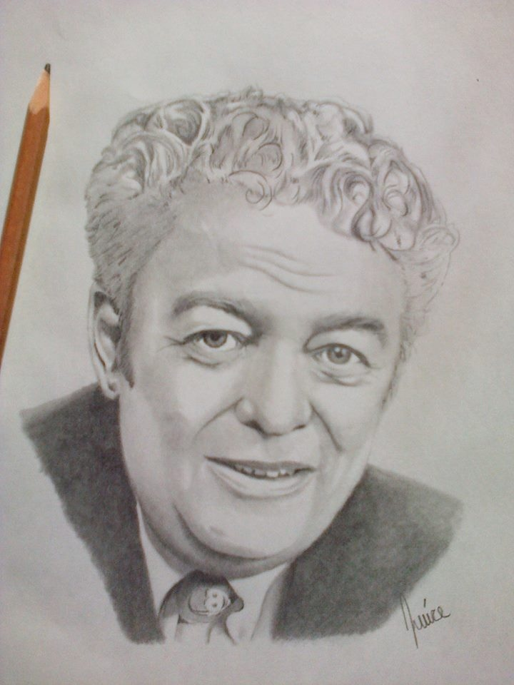 Max Keeping Pencil Portrait. Courtesy: Justin Labelle, La Belle Art.