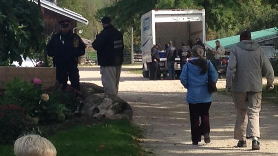 Public health officials raided the farm of raw milk crusader Michael Schmidt near Durham, Ont. on Friday, Oct. 2, 2015. (Scott Miller / CTV London)