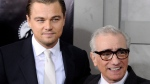 "This Feb. 17, 2010, file photo shows actor Leonardo DiCaprio, left, and director Martin Scorsese attending the premiere of ""Shutter Island"" at The Ziegfeld Theatre, in New York. (AP Photo/Peter Kramer)"