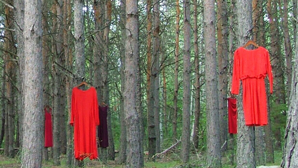 REDress Project': Powerful display of red dresses to draw ...