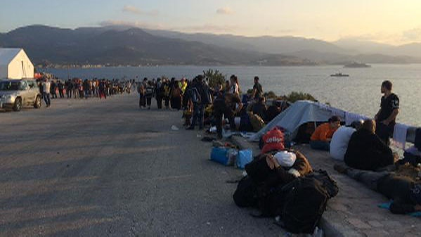 CTV National News reporter Daniele Hamamdjian is in Greece covering the refugee crisis. In Lesbos, where more refugees land each day and overwhelm the UNHCR camps. <br> Daniele Hamamdjian @DHamamdjian:#UNHCR camp extra crowded. Buses usually taking them to #Mytilini have been suspended, port too overcrowded #Lesbos