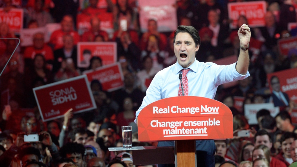 Justin Trudeau in Brampton, Ont.