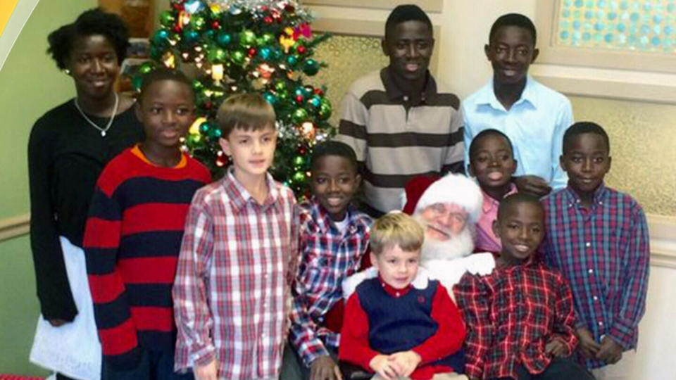 Mike and Hayley Jones adopted eight siblings from Sierra Leone. They also have two biological sons and are expecting one more in February 2016.