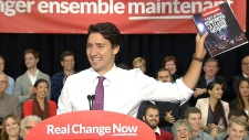 Justin Trudeau in Waterloo, Ont.