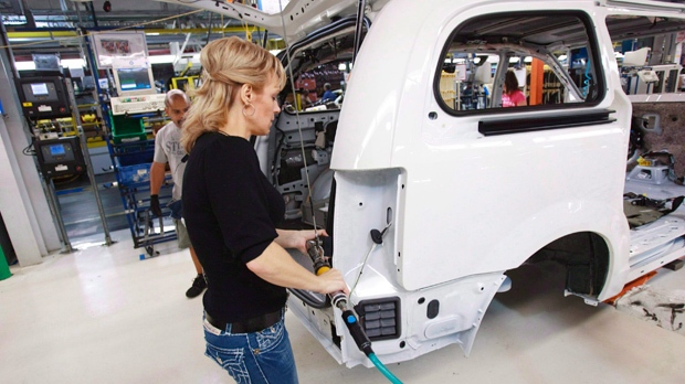 Chrysler assembly plant in Windsor, Ont. in 2011