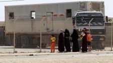 Syrian refugees in Jordan camp