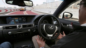 Testing Toyota's self-driving technologies in Tokyo, on Oct. 6, 2015. (AP / Koji Sasahara)