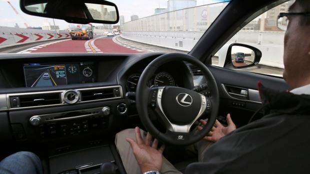 Testing Toyota's self-driving technologies in Tokyo, on Oct. 6, 2015. (AP / Koji Sasahara)
