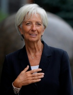 Managing Director of the International Monetary Fund Christine Lagarde in Kiev, Ukraine, Sunday, Sept. 6, 2015. (AP/Sergei Chuzavkov)
