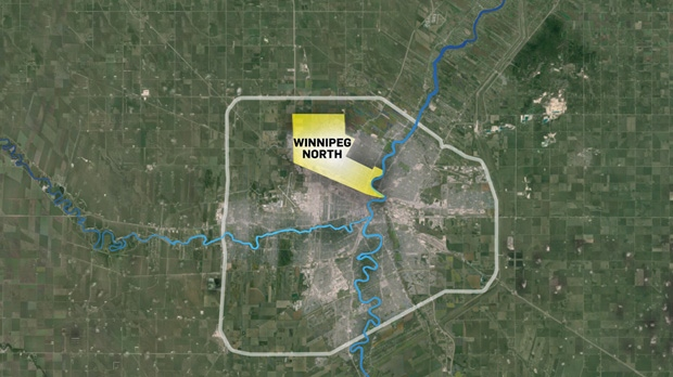 The Winnipeg North riding includes Inkster Gardens, Mandalay West, the Maples and Leila-McPhillips Triangle. Along its southern borders is The Canadian Pacific Railway.