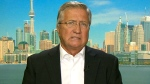 Former Newfoundland and Labrador Premier Danny Williams speaks to CTV Power Play's Don Martin from a studio in Toronto, on Tuesday, Oct. 6, 2015.